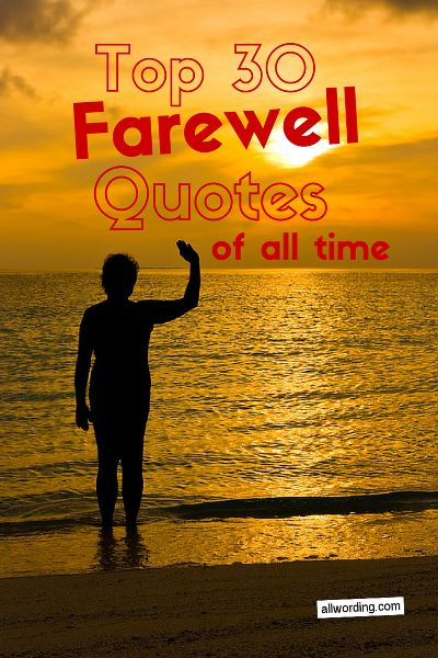 Top 30 Farewell Quotes of All Time  All AllWording