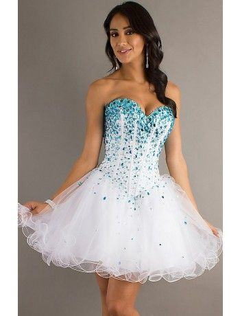 Empire Sweetheart Tulle and Beading Homecoming Dress