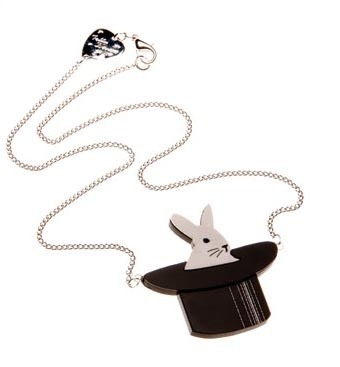 tatty devine bunny necklace