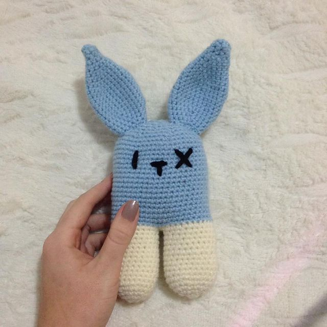Ravelry: Project Gallery for Rattle bunny two-legged pattern by Lucia Lanukas