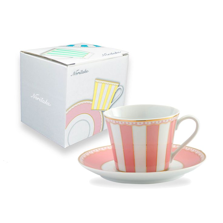 Adorable Carnivale Cup and Saucer giftboxed set. @$33. www.noritakeeshop.com.au