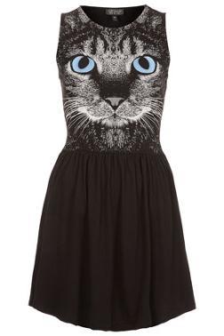 Cat face skater dress. Cute
