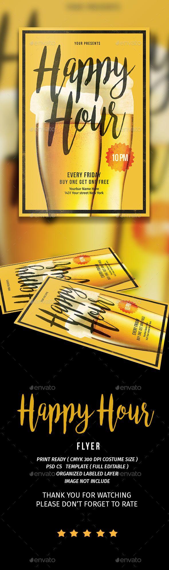 best images about food drink flyer template happy hour vol 3 drinks chalkboardchalkboard flyertemplate