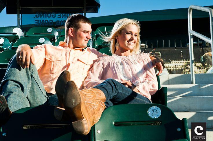 baseball themed engagement photos