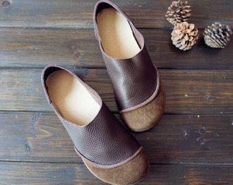 Marrone scarpe fatte a mano Oxford Scarpe donna scarpe