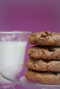 Giant Chocolate Chocolate Cookies | Food Culture | Pinterest