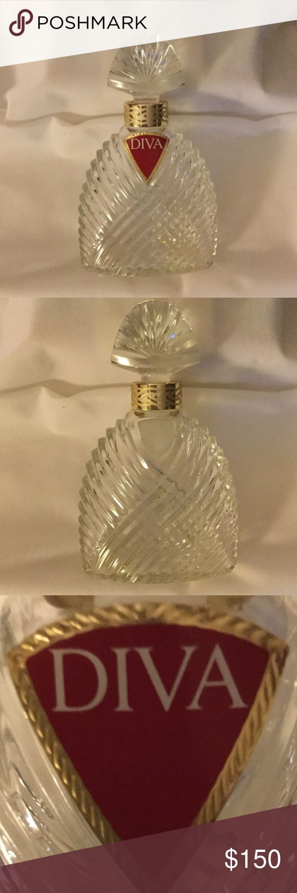"""Large DIVA Eau De Parfum Display Bottle by Ungaro VINTAGE (1983) DIVA Eau De Parfum Display Bottle by Ungaro, this bottle is a factice dummy, used for display only, perfect on a dressing table or ladies dresser for decoration. There is no perfume in the bottle, 6.75"""" tall Collectors item Ungaro Accessories"""