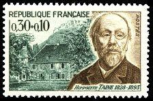 Hippolyte Taine 1828-1893 - Timbre de 1966