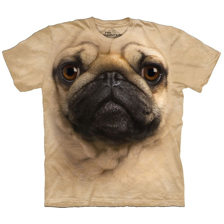 Big Face Mopshond T-Shirt