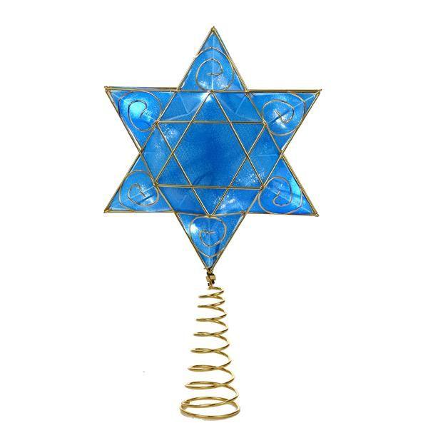 LED Jewish Star Tree Topper