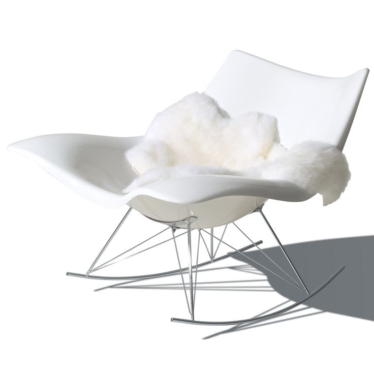 Stingray gyngestol, hvid Fredericia Furniture.