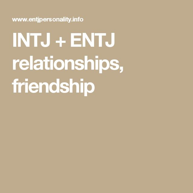 Entj dating site