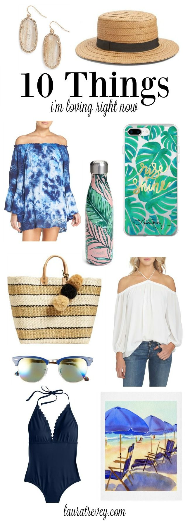 Being by the ocean brings me so much joy and happiness. To go with my current coastal vibes, here are 10 things I'm loving right now. Instagram @lauratrevey