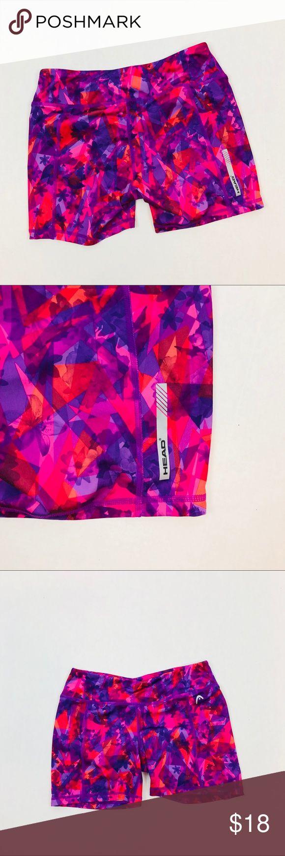 "HEAD Women's Tachisme Print Studio Shorts Size S Amazing Print HEAD running short. Size Small Waist:13"" Inseam:5"" Head Shorts"