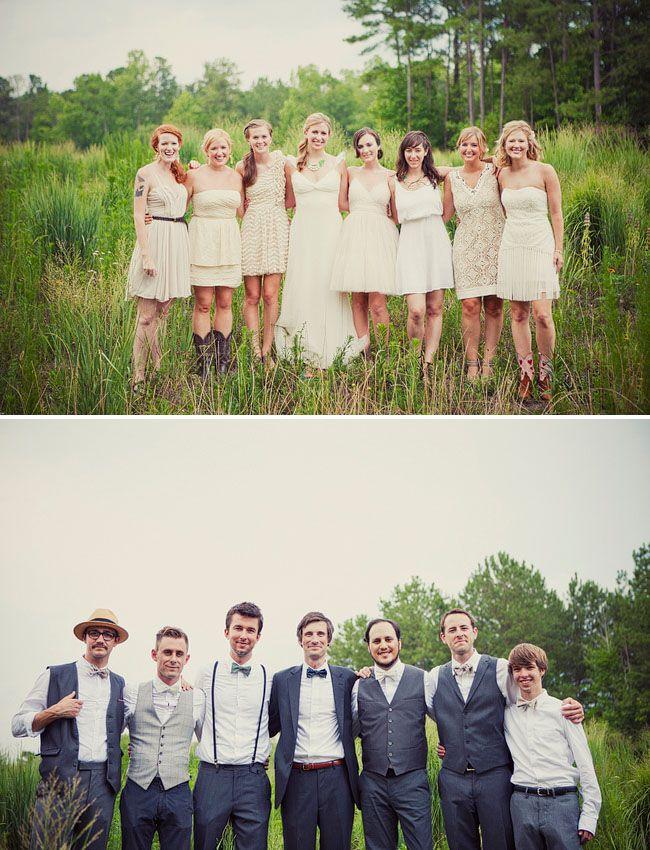 More bridesmaid ideas.. Love how each bridesmaid has their own style!!
