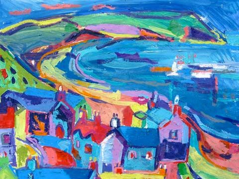 Catrin Williams - Born in 1966, Catrin Williams was brought up on a hill-farm near Bala, and has lived near the sea at Pwllheli since 1996.    Welshness, or rather the experience of living in Wales, is an obvious theme in her work.