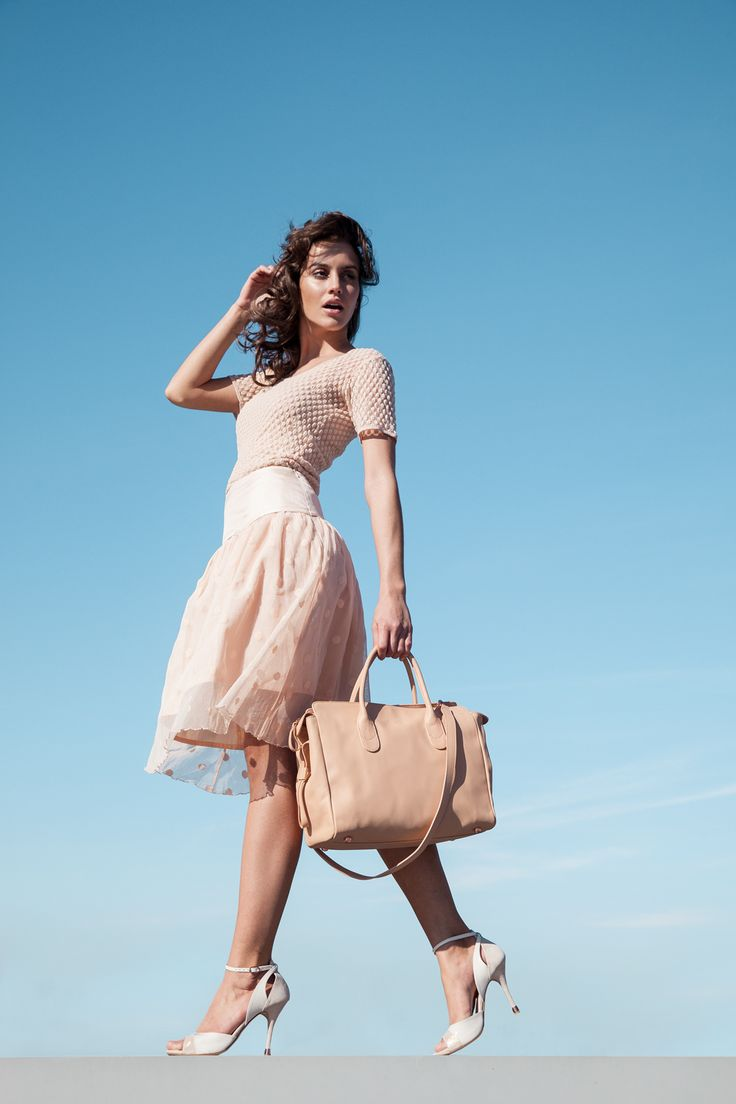 Fishnet top Zia & Dotted tulle skirt Michele by Repetto - Collection spring-summer 2015