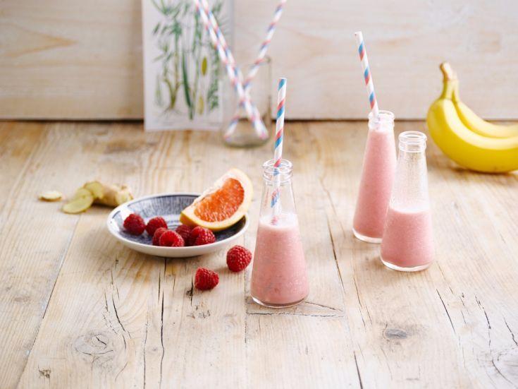 Ružové ovsené smoothie potešenie