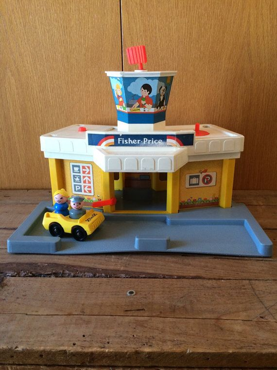 Vintage Fisher Price Jetport Base with by sweetserendipityvint