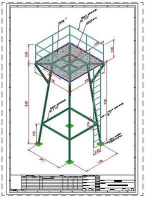 Torre Para Tanque Elevado De Agua 3d Dwgdibujo De Autocad