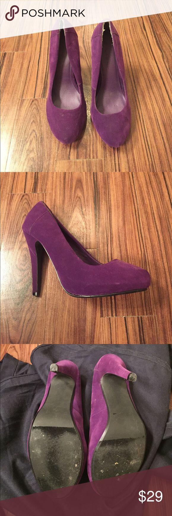 Purple Suede Heels. Sz 8 Purple Suede Heels. Sz 8 Shoes Heels