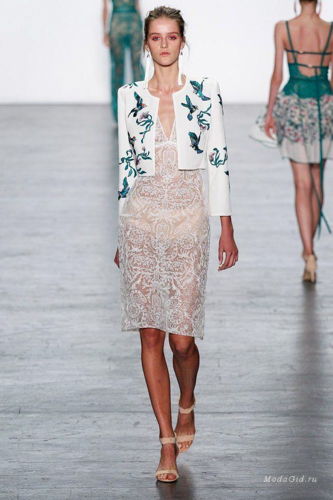 Женская мода: Tadashi Shoji, весна-лето 2017