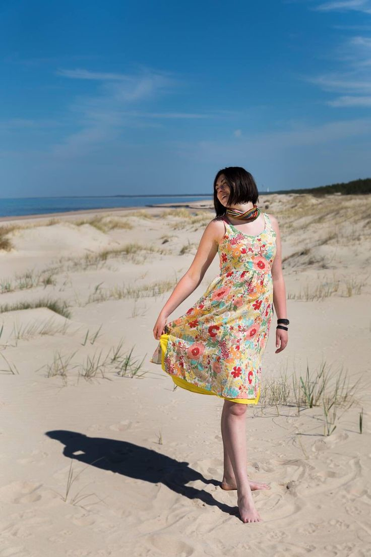 A personal favourite from my Etsy shop https://www.etsy.com/listing/532793203/cotton-and-silk-dress-summer-dress