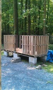 pallets==chicken coop idea might be good for the turkey/ meat chicken coops