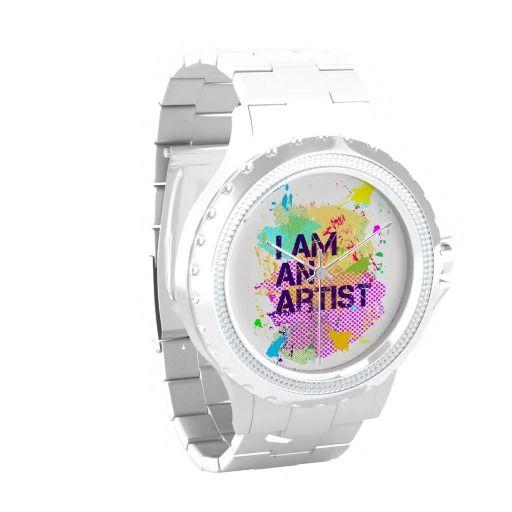 i am an artist Rhinestone Watch