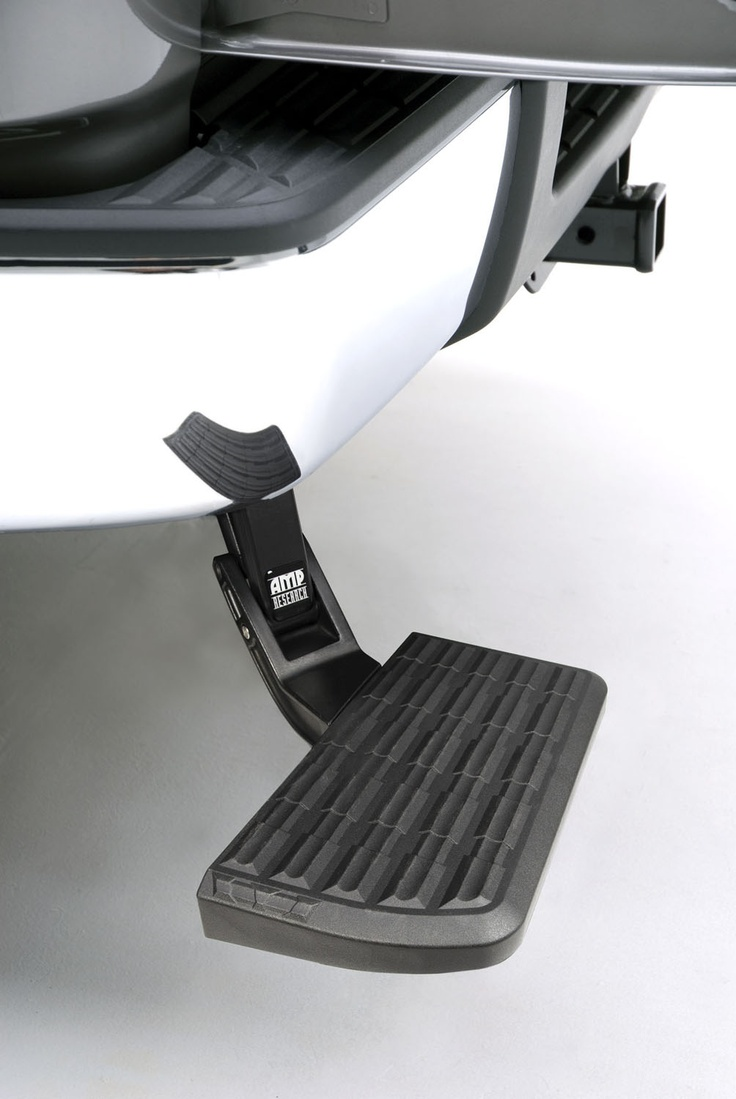 Flip it down and kick it up! The Amp Bed Step for 2007-2013 Chevy Silverado just made getting in and out of your truck bed easier and safer!