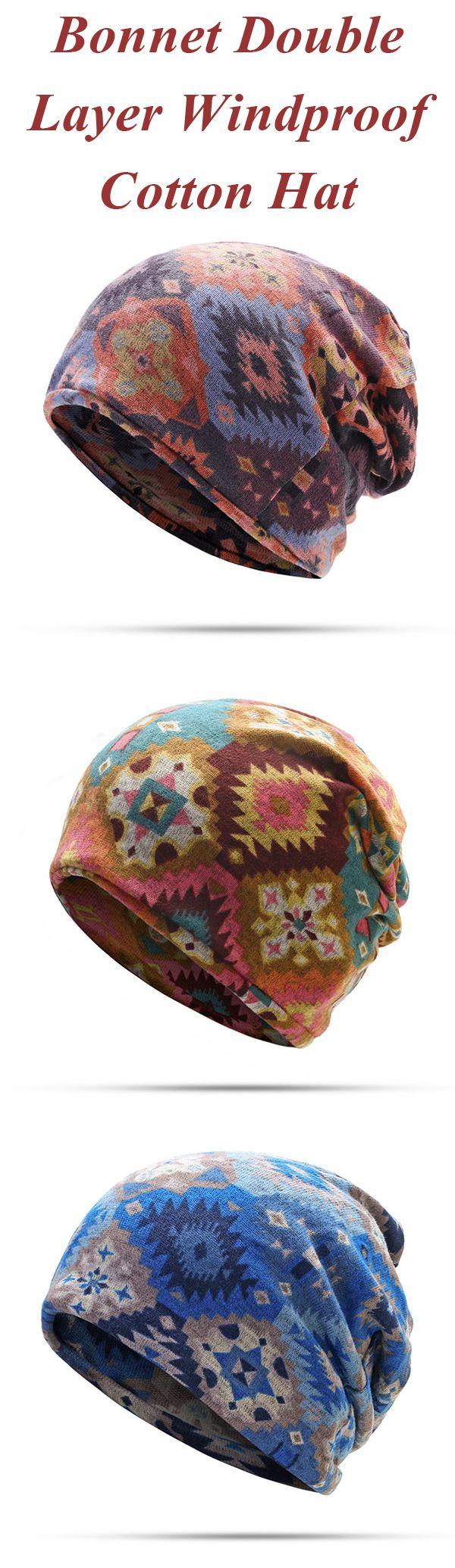 Women Hedging Cap Skullies Beanies Caps Bonnet Double