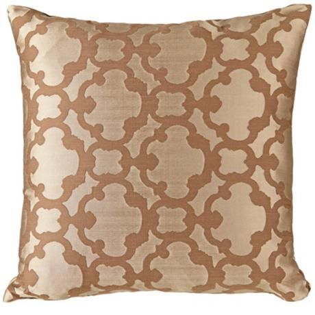 "Palisade Tile Latte 18"" Square Down Throw Pillow"