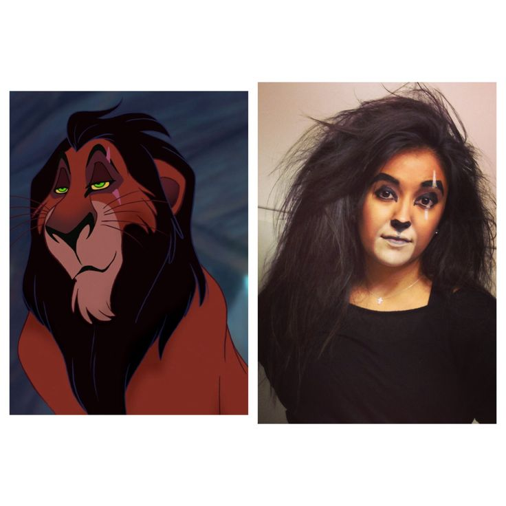 Halloween costume as Scar from The Lion King