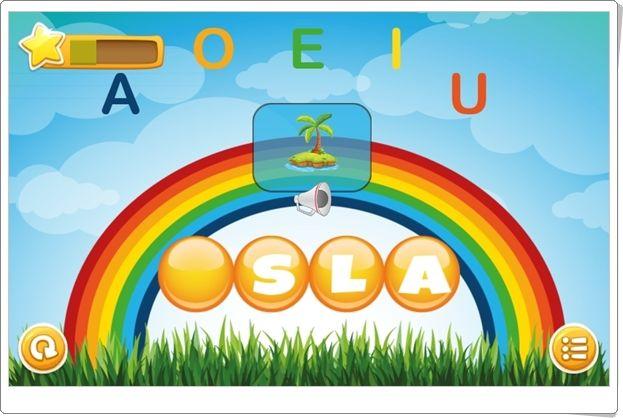 """""""Sonido inicial"""" es un bonito juego, de aprenderjugando.cl, en el que hay que completar palabras a las que les falta la vocal inicial. Para avanzar en la capacidad lectora en Infantil."""