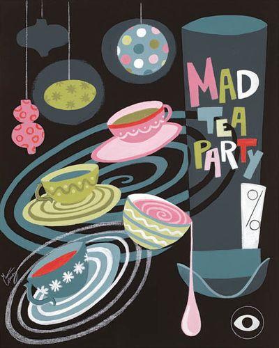 El Gato Gomez Art - Mad Tea Party