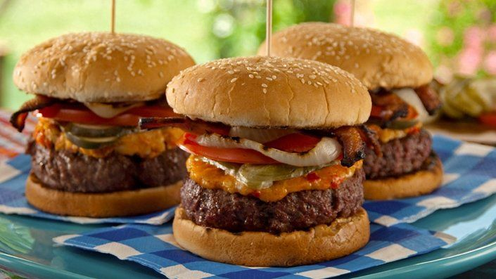 You'll find the ultimate Bobby Flay Pimiento Cheese-Bacon Burger recipe and even…