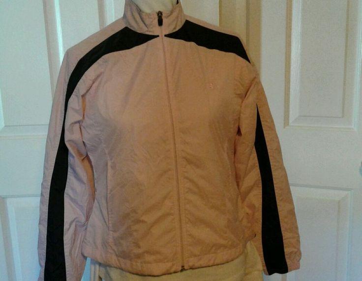 New Balance Windbreaker, Athletic Jacket, Pink/Black Sz M (runs small) Ladies #NewBalance #CoatsJackets