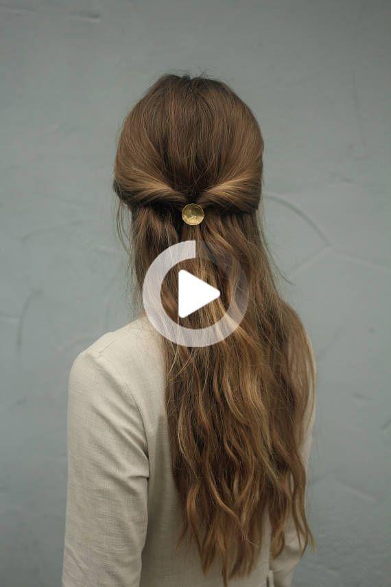 Brass Hair Tie Hair Cuff Metal Hair Jewelry Modern Hair Accessories Minimalist Hair Accessory In 2020 Metallic Hair Minimalist Hair Accessories Hair Cuffs