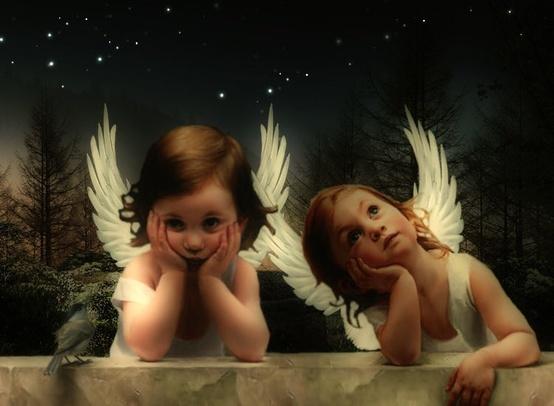 Dos angelitos.