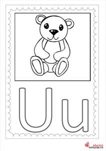 Litera U - Planșă de colorat