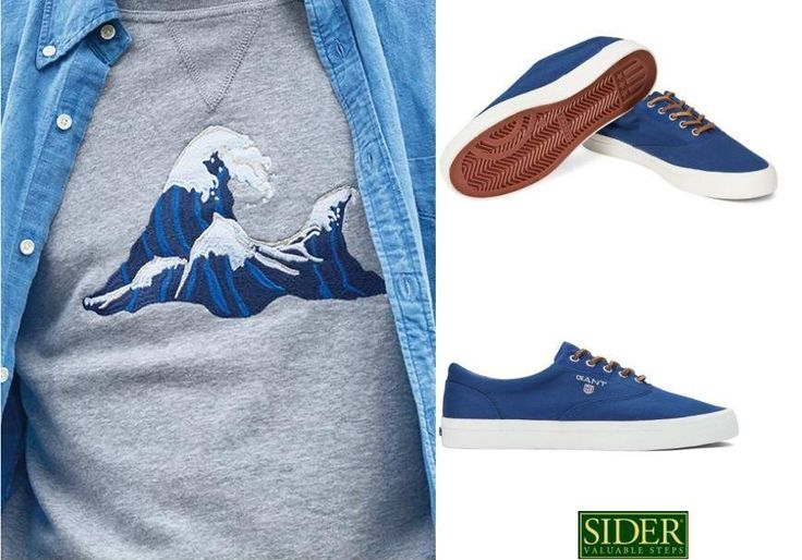 Gant shoes#ss15#Hero Sneaker#men#casulalook#trend#siderstores#summer feeling#style#blue#gantshoes