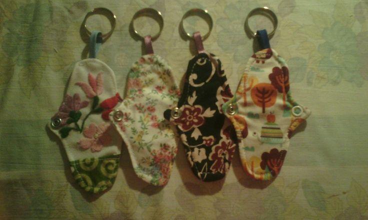 Teeny-tiny Emilla Pads keychains! ❤ www.emilla.hu