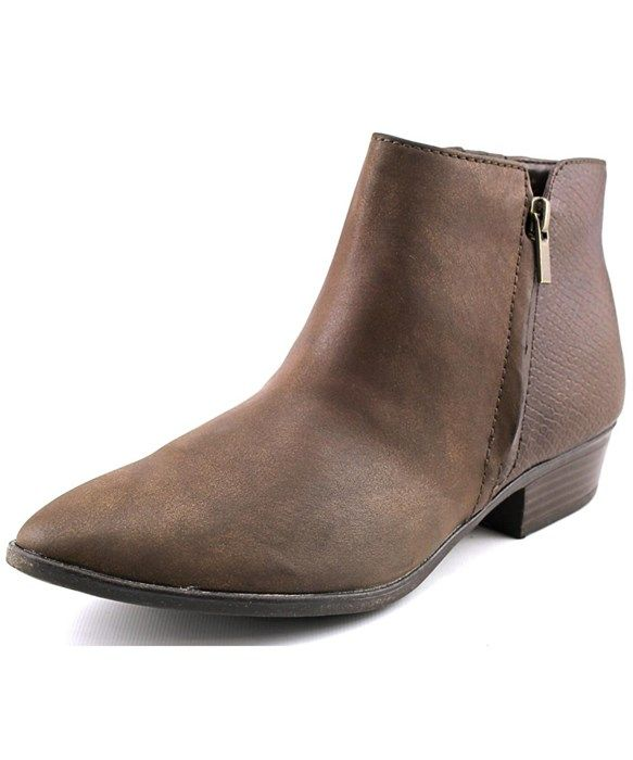 White Mountain Daze Women  Pointed Toe Synthetic Brown Ankle Boot