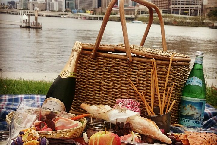 Looking for Something Romantic? Grab a picnic hamper and enjoy French fare by the river, courtesy of Aquitaine Brasserie.