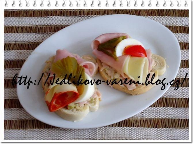 Jedlíkovo vaření: Velikonoční recepty - obložené chlebíčky  #recept #chlebicky #pomazanky