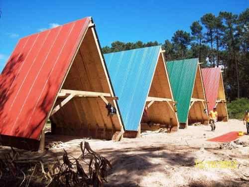 Construcci n de casas caba as alpina madera tronco - Construccion de bungalows ...