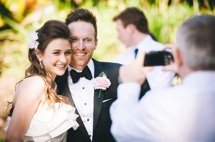 Port Douglas Wedding Photography. Byron and Elise, posing for the pap's at Little Cove in Port Douglas. Destination Wedding Photography. www.shaunguestphotography.com.au