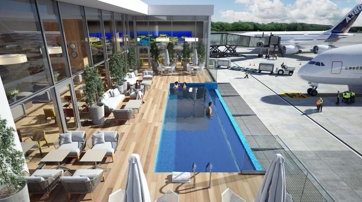 The new VIP lounge opening at Punta Cana International Airport in December will have its own panoramic outdoor swimming pool.