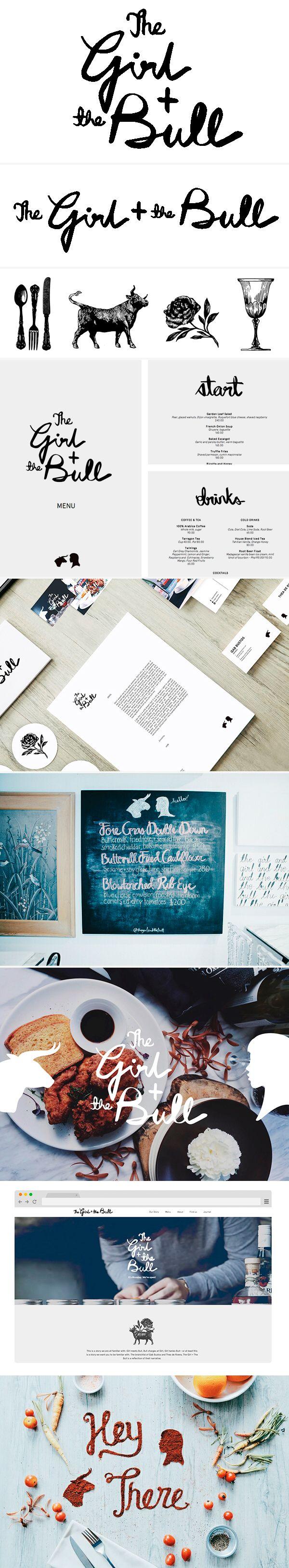 identity / the girl + the bull / restaurant | #stationary #corporate #design #corporatedesign #identity #branding #marketing repinned by www.BlickeDeeler.de | Visit our website: www.blickedeeler.de/leistungen/corporate-design