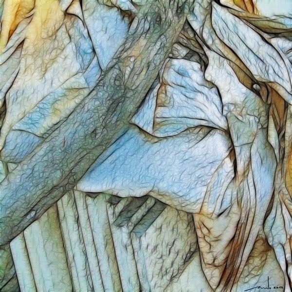 Wood Paper Stone   Digital Artwork over original photo 50 x 50 cm  rcn